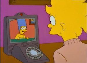 Simpsonovi - videohovor